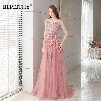 17b72de75a9b Abendkleider Vestido De noche De encaje largo rosa con perlas Vintage  Vestido De fiesta vestidos De fiesta elegante 2019 Vestido largo