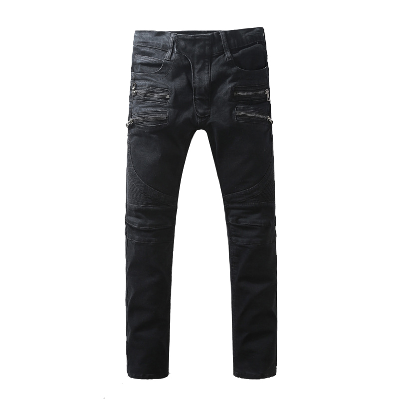 Skinny Biker Jeans Men Hi-Street Ripped Rider Denim Jeans Motorcycle Runway Slim Fit Washed Moto Denim Pants Joggers JW104 summer style men jeans blue color denim destroyed ripped jeans men high quality skinny slim fit biker jeans casual leisure pants
