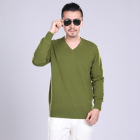 Man Sweaters 100% Cashmere and Wool Knitting Jumpers Men Winte Vneck Warm Pullovers Male Clothes Standard Pure Cashmere Knitwear