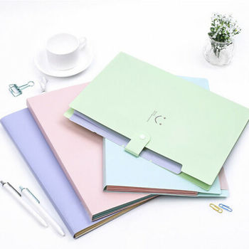New 10 Color A4 File Document Bag Waterproof Carpeta File Folder 5 Layers Archivadores Anillas Document Bag Office Stationery 5