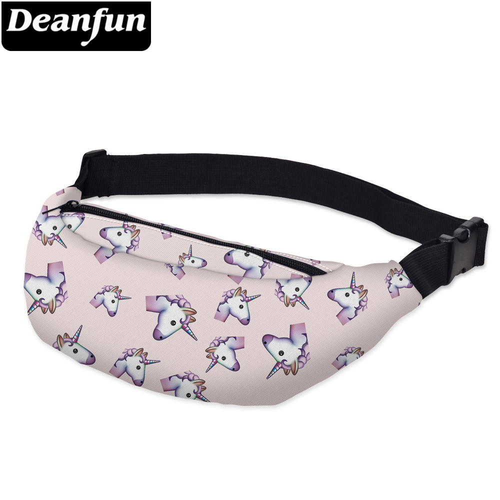Deanfun 3D Printing Waist Bags Pink Unicorn Women Fanny Pack For Travelling YB13