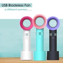 2019 Summer Mini Leafless Fan Handheld 3 Speed Adjustable USB Rechargeable Air Cooling