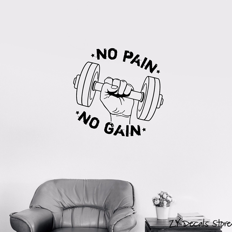 Buy Stickers No Pain No Gain And Get Free Shipping On Aliexpresscom