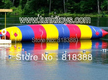 crazy inflatable blob jump water toys/water trampoline
