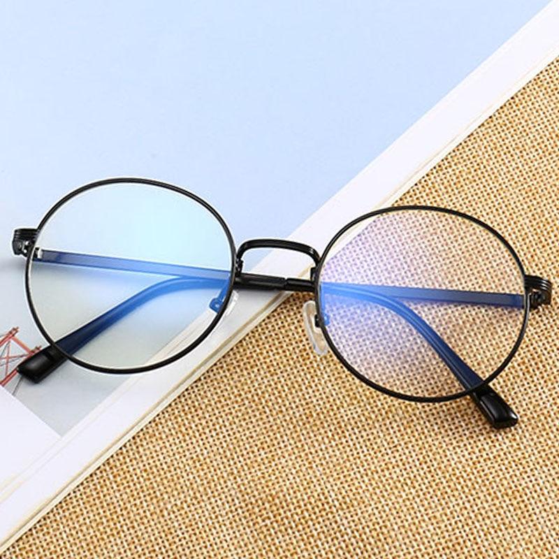 Round Glasses frame retro FemaleTransparent for Computer Lenses Metal Frame Eyeglasses Women Men Anti Blue Ray Oculos De Grau Sp