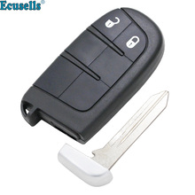 2 buttons Remote Key Shell For Chrysler 300 for DODGE JOURNEY Dart Charger for Jeep Grand Cherokee for Fiat with small key