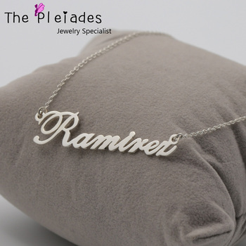 925 Sterling Silver Personalized Name Necklace Do Your on Chain Custom Nameplate