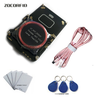 Proxmark3 Easy V5.0 DEV Kits develop suit nfc RFID reader prox/card em4x uid changeable card 13.56MHZ clone crack