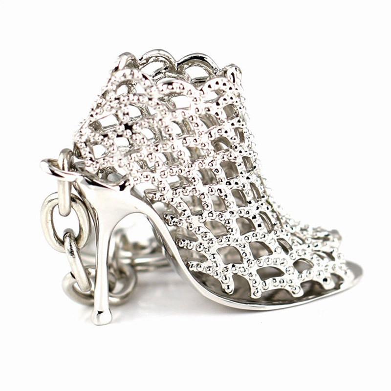 Модные женские туфли Брелоки ювелирные держатель туфли на высоком каблуке с украшениями из кристаллов полый кулон Пряжка брелоки Цепи для ...