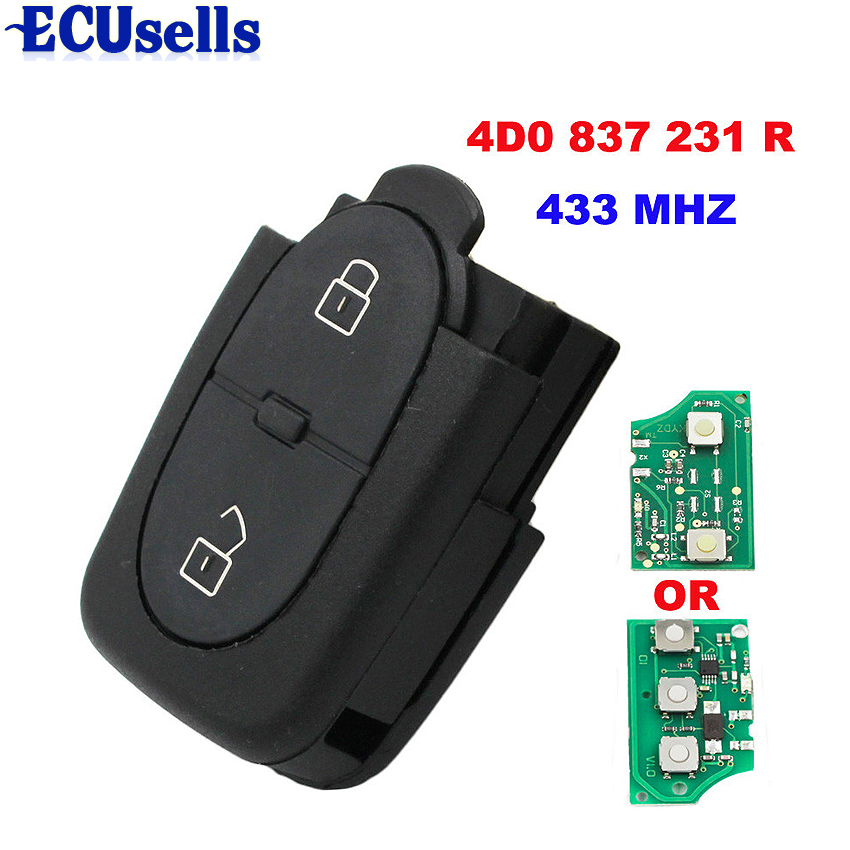 4D0837231R FOR Audi A3 A4 A6 Remote Key Control Keyless