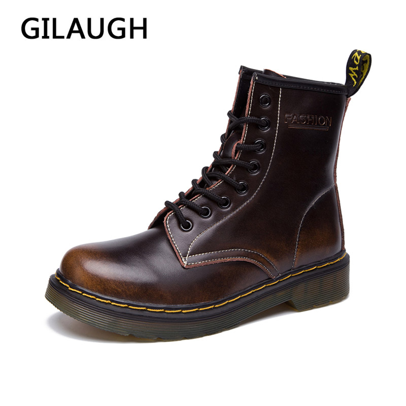GILAUGH Ankle Martin Boots Warm Winter shoes woman