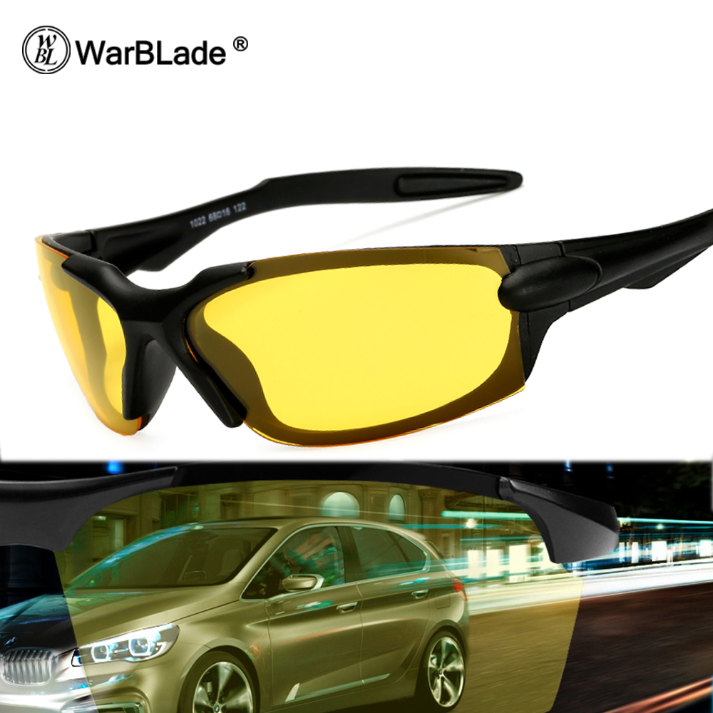 WarBLade Brand Polarized Sunglasses Men Women Night Vision Goggles Driving Glasses Driver Sun Glasses UV400 Gafas De