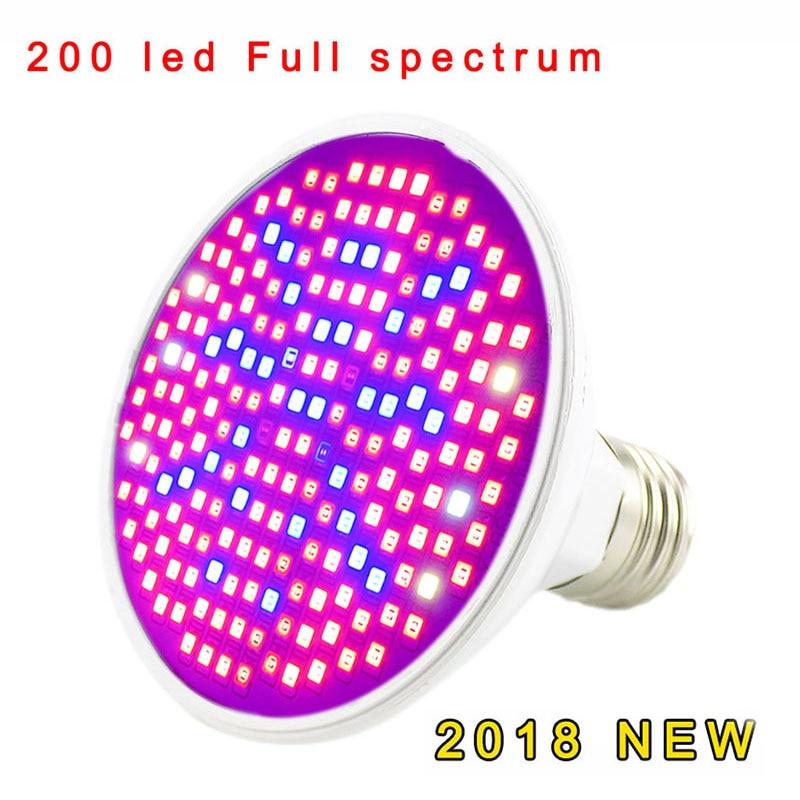 Полный спектр Светодиодная лампа для роста растений лампа светильник ing для семян гидро цветок теплица Veg Крытый сад E27 phyto growbox - Испускаемый цвет: 200led Full spectrum