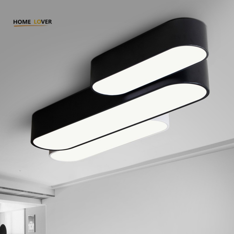 Ceiling lights for Living room Bedroom Kitchen Light Fixture Lamparas de techo White/Black Color Flush Mount Ceiling Light Lamp