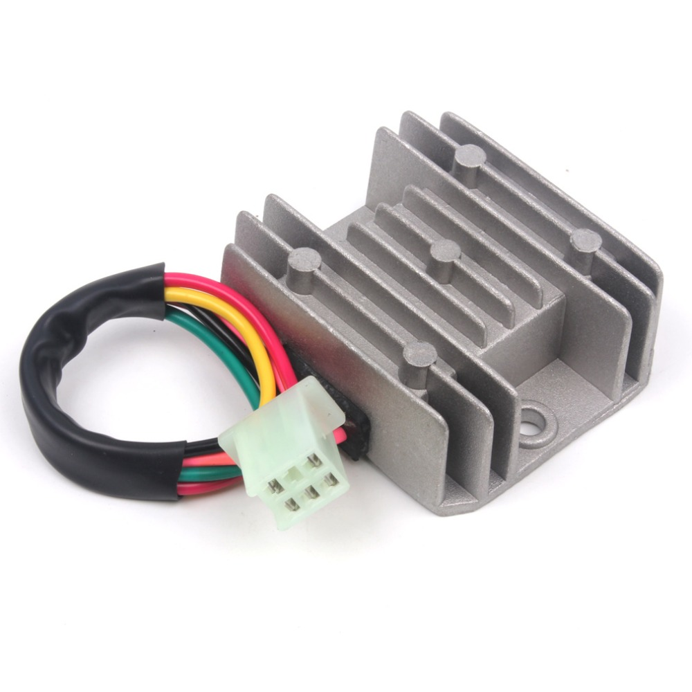 aliexpress buy 5 wires 12v voltage regulator rectifier motorcycle dirt bike atv gy6 50