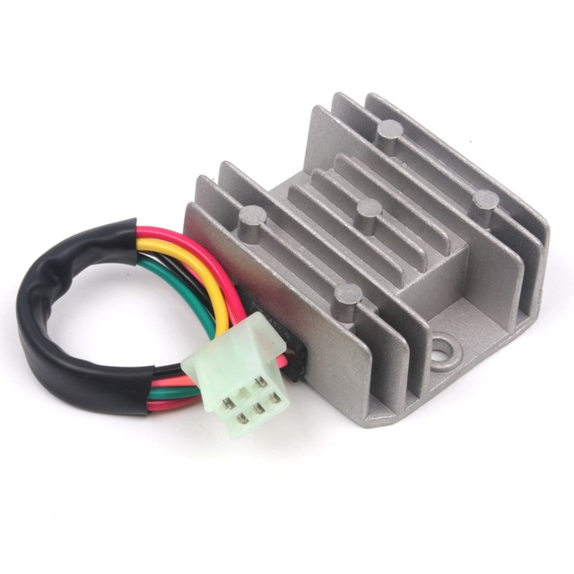 5 Wires 12V Voltage Regulator Rectifier Motorcycle Dirt Bike ATV GY6 50 150cc Scooter Moped JCL_640x640 5 wires 12v voltage regulator rectifier motorcycle dirt bike atv 5 wire rectifier diagram at readyjetset.co