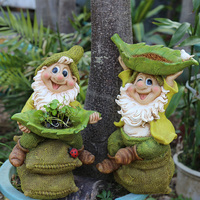 Poly Resin Garden Swing Gnome Figurine Courtyard Dwarf Statue Outdoor Dwarf Old Man Sculpture Decorations