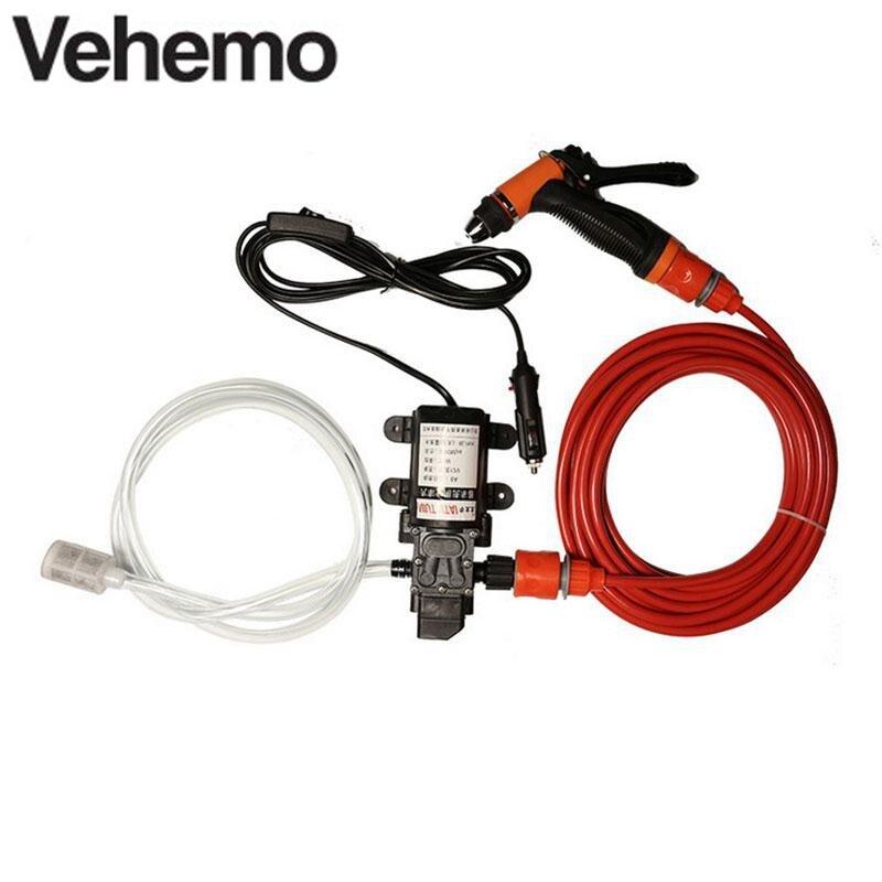 12 볼트 70 와트 130 PSI 고압 자체 프라이밍 자동차 전기 물 펌프 휴대용 청소 키트 세트