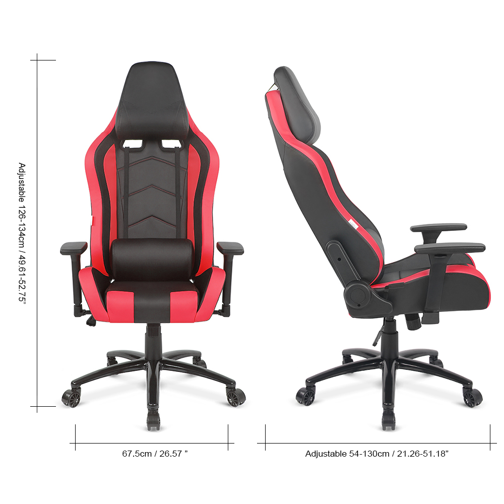 online shop ikayaa us uk fr stock gaming office chair computer chair recline height armrest adjustable swivel function for manager chairs aliexpress