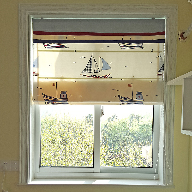 roman blinds bedroom windows and a small sailboat custom window blinds folded down short curtain