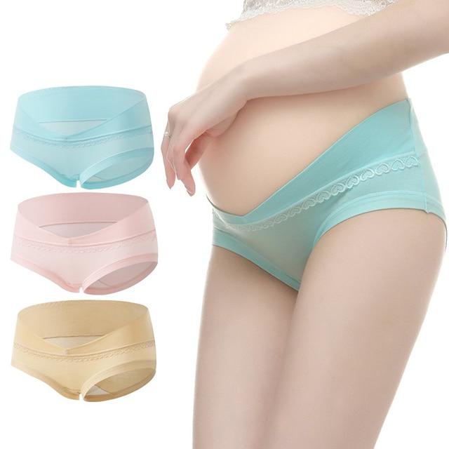 2722232b12c6 3pcs Maternity Underwear U-Shaped Low Waist Maternity Panties Cotton Pregnancy  Briefs Women Clothes Pregnant Women Underpants