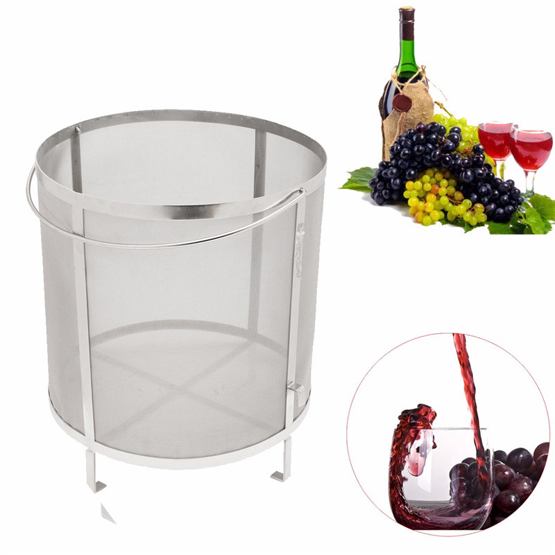 Stainless Steel Beer Wine House Home Brew Filter Basket Strainer Hip Spider CylinderStainless Steel Beer Wine House Home Brew Filter Basket Strainer Hip Spider Cylinder