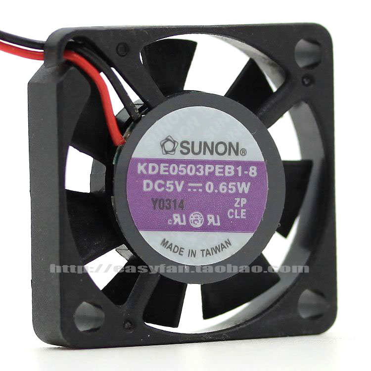 SUNON KDE0503PEB1-8 DC 5V 0.65W 30x30X06mm Server Square Fan