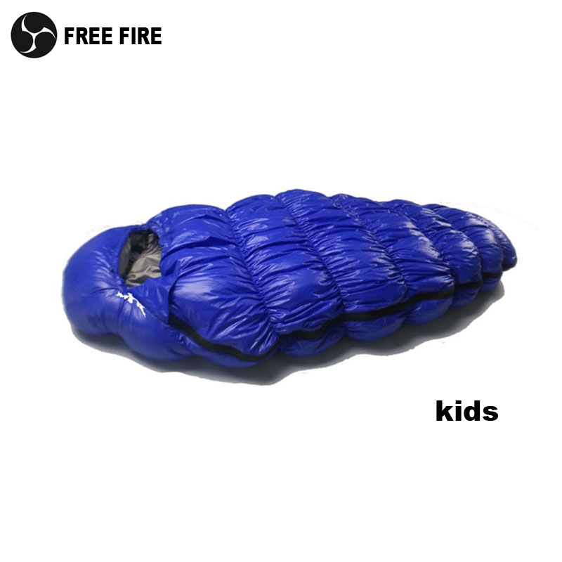 Saco de dormir para niños, Saco de dormir para acampar al aire libre para niños, Saco de dormir para niños Duck Down Regalo para niños de invierno, fuego gratis, 120 cm, 140 cm