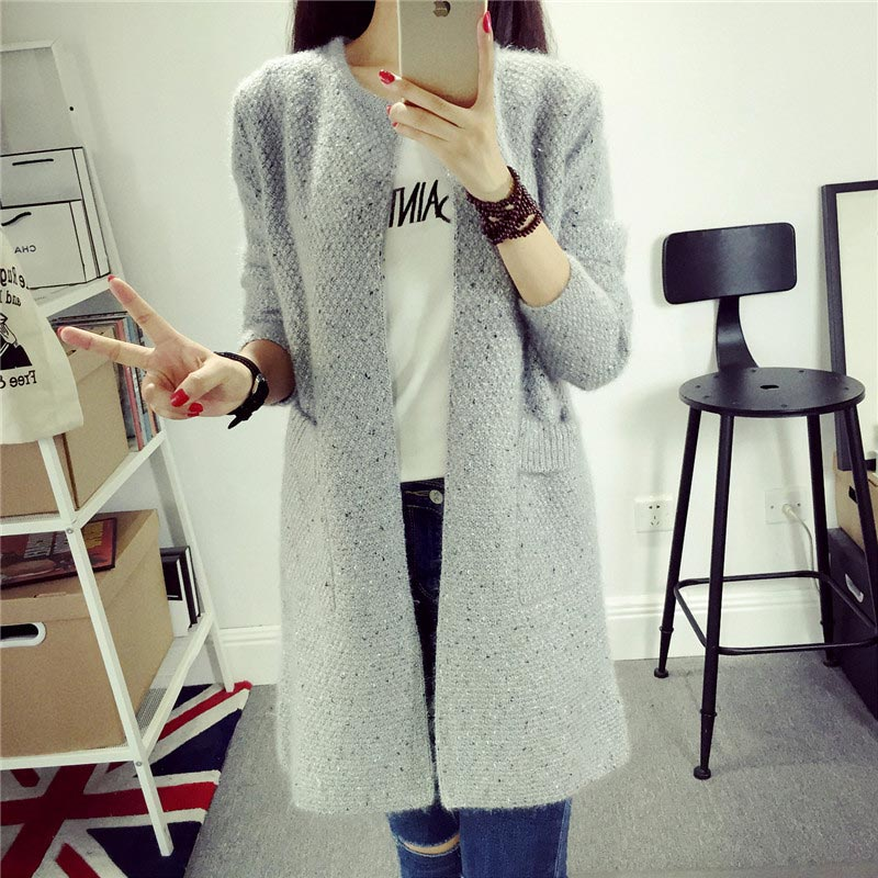 Cashmere Sweaters Women Invierno 2019 Female Sweaters And Cardigans Long Sleeve Knitted Sweaters Size Large Women Coat Jacket