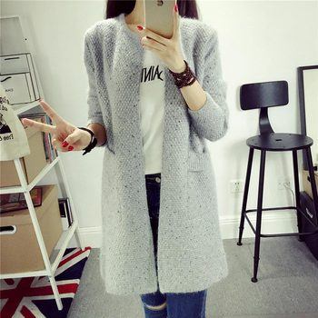 Cashmere Sweaters Women Invierno 2019 Female Sweaters And Cardigans Long Sleeve Knitted Sweaters Size Large Women Coat Jacket фото