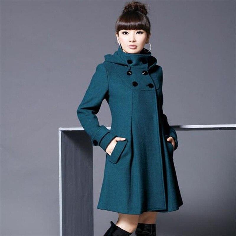 Large size women blended woolen jacket Korean version of