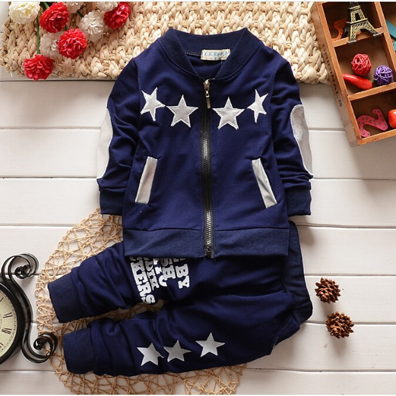 BibiCola baby Boy clothing set boy sports suit set children christmas girls tracksuit clothes T shirt+pant