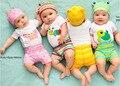 2016 Moda Bebé Conjunto Mameluco Del Bebé Recién Nacido de Verano Niños Juegos de Ropa de Bebé Mono de Las Muchachas 3 Unids (Mameluco de la Manga + sombrero + Los Pantalones)