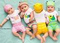 2016 Moda Conjunto Romper Do Bebê Verão Bebê Recém-nascido Meninos Conjuntos de Roupas de Bebê Meninas Macacão 3 Pcs (Romper de Manga Comprida + chapéu + Calças)