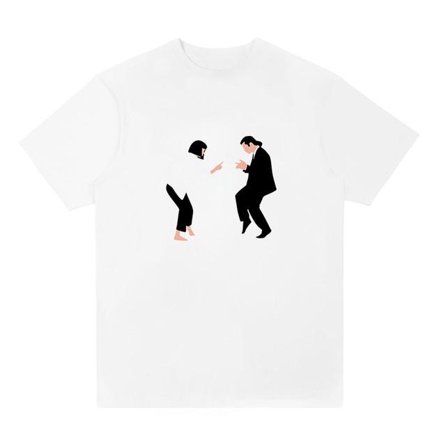 4aece14a 2018 new arrival t-shirt mashup between Pulp Fiction and la La Land t shirt  funny Men casual size XS-XXL tee shirt free shipping
