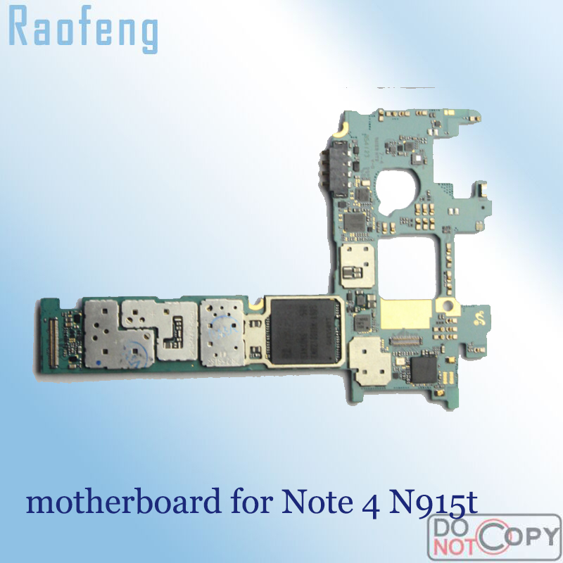 Raofeng for Samsung Galaxy Note-4/N915t/Motherboard/.. 32GB Logic-Board with Full-Chips title=