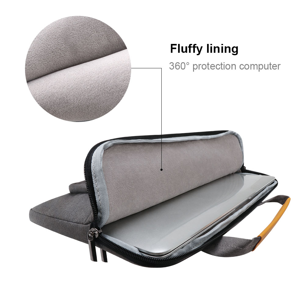 Image 5 - iCozzier 13.3 inch Front Pocket Laptop Sleeve Large Capacity Handbag Protective Business Case Bag for 13 Ultrabook/Notebook-in Laptop Bags & Cases from Computer & Office