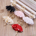 Wholesale 50PCS Fabric Dressing Ballet Dancing Girl Alloy Jewelry Pendants Gold Tone Metal DIY Bracelet Necklace Keyring Charms