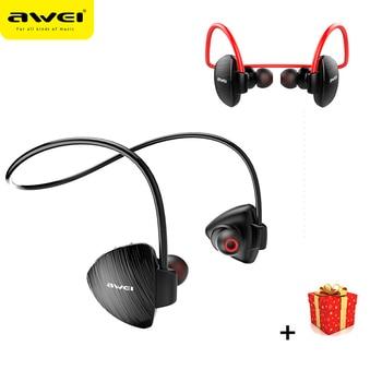 Awei Sport Earphones Bluetooth Wireless Headphone For In Ear Phone iPhone Headset Computer Earpiece Earbud Buds In-ear With Mini