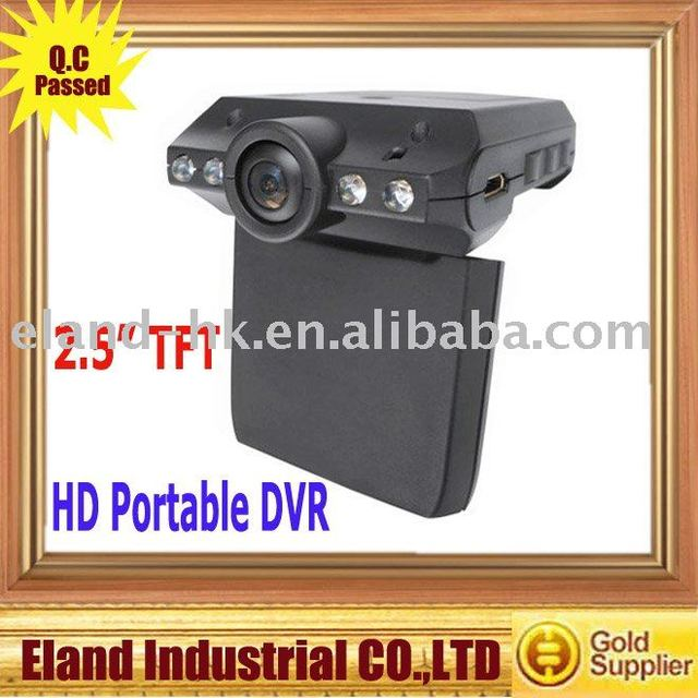"HD Portable DVR 2.5"" TFT LCD Screen Cycled recording"