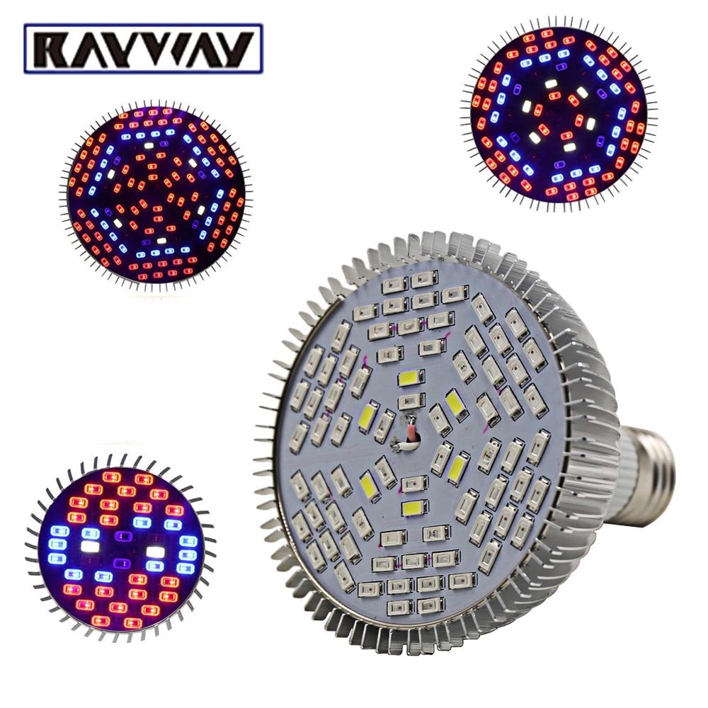 15 W 25 W 45 W E27 AC85-265V récif Plein Spectre Mené Élèvent La Lumière usine Élèvent La Lampe Ampoule IR UV 5730SMD Fleur de Système de Culture Hydroponique