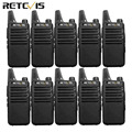 10pcs Retevis RT22 Mini Walkie Talkie Radio Station 2W UHF CTCSS/DCS VOX Scan Squelch Two Way Radio Portable + Programming Cable