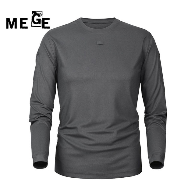9364bc73 MEGE Knight Brand Clothing Men's Tactical Outdoor Hunting Hiking Breathable Long  Sleeve T shirt Quick-drying Coolmax Men's Shirt