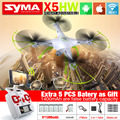 NEW SYMA X5HW FPV RC Quadcopter Drone with WIFI Camera 2.4G 6-Axis Dron RC Helicopter VS jjrc h33 with 5 battery + 5in1 Cable