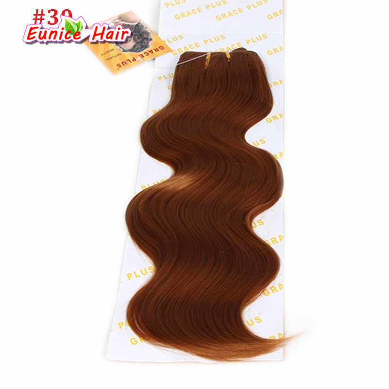 Синтетические объемные волнистые 18 дюймов 3 сплетение волос синтетические волосы для наращивания крючком косички плетение волосы волнистые тело кусок