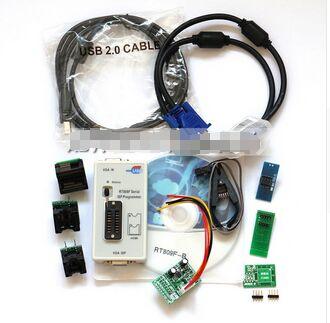 Rt809f programmeur + 7 + adaptateur + sop16 sop20 ic clip carte mère lecteur lcd bios fai/usb/vga w/engilsh softerware la ou