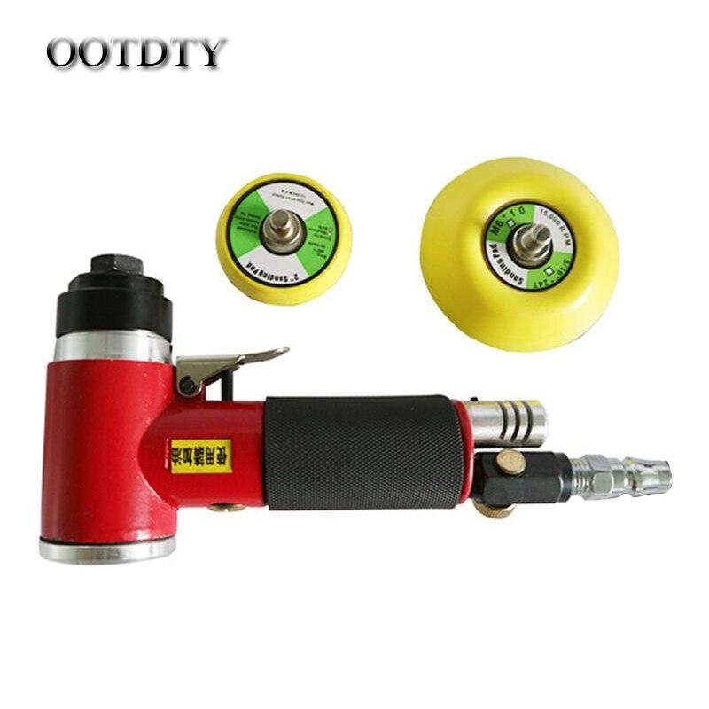 OOTDTY 2Inch/3Inch Mini Air Dual Action Orbital Sander Polishing Sanding Machine Kit Pad for Cabinet Furniture Tools