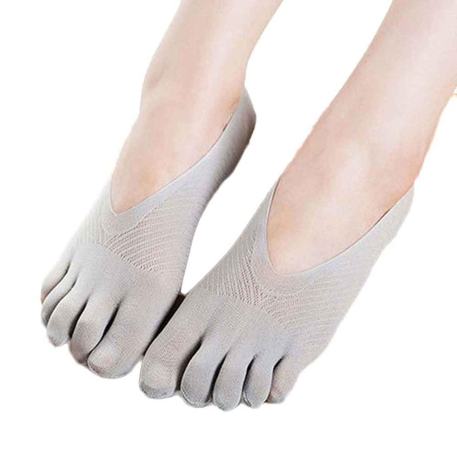 Sexy  Yoga Gym Dance Sport Exercise New  Five Toe Sock Slippers Invisibility For Solid Color Socks Five Finger Socks  Aug11
