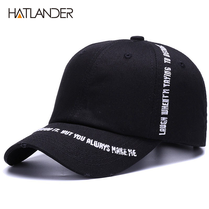6038e49f82c87 HATLANDER New Fashion cotton baseball cap women sports hat men trucker  brand hip hop caps letters