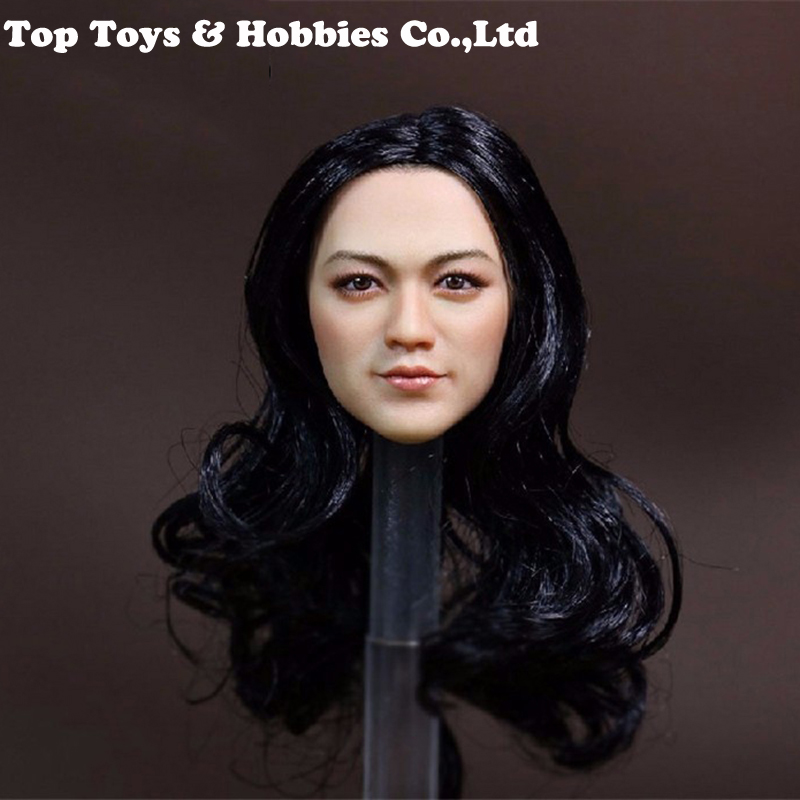 1/6 Pale Skin Female head Sculpt 1/6 Beauty Tang Wei head carving with black hair Fit for 12 inches Female Phicen Body Figure  1/6 Pale Skin Female head Sculpt 1/6 Beauty Tang Wei head carving with black hair Fit for 12 inches Female Phicen Body Figure